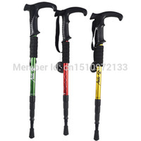 Cheap Wholesale-op-AntiShock Hiking Cane Walking Pole Trekking Walk Stick Crutches New Arrival with Free shipping A8emM