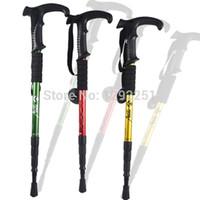 Cheap Wholesale-op-Free Shipping!1pcs Hiking AntiShock Walking Pole Trekking Stick Crutches with Wholesales 19DSc