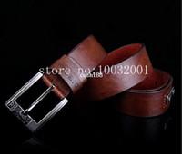 Wholesale 4 Colors Dieseel Brand New men s Genuine Leather Belt Vintage Style Metal Rivet Pin Buckle Pigskin Strap For Men Belts