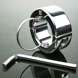 Wholesale 2013 the same with photo real stainless steel ball stretcher Chastity Male adult sex toys A086