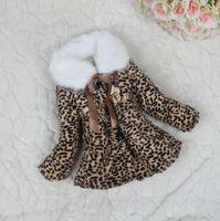 Coat winter coats - 2014 Girls Winter Coats Thicken Leopard Fur Collar Outerwears