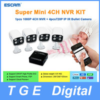 Wholesale Escam Super Mini CH NVR Kit P CH NVR K104 P IP IR Bullet Network Camera QD300