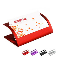 Wholesale Creative Metal Business Card Holder Office Supplies Business Men and Women Fashion Card Case Name Card Rack MS
