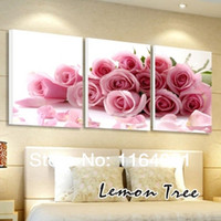 Cheap Free shipping Pure hand-painted rose modern decorative painting picture no frame Pure hand-painted oil paintings wedding gift home accessori