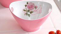 Wholesale 11 inch Three colors Euro style ceramic appearance melamine salad fruit bowl