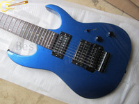 blue guitar - Electric guitar7 strings Metallic blue guitar