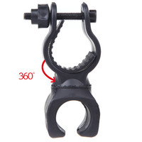 Wholesale 2pcs Degree Swivel Cycling Grip Mount Bicycle Bike LED Flashlight Light Mount Bracket Holder Torch Clip Clamp mm