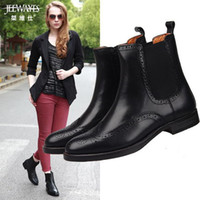 Wholesale British bullock high restoring ancient ways for women s shoes brogue Chelsea on woodwork leather sleeve short boots