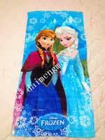 Wholesale cm New Towel design Elsa Anna OLAF cotton towels bathroom children beach towel kids bath towel best price