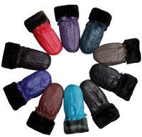 Wholesale New Genuine Leather Womens Sheepskin Mitten Warm Winter Gloves Women