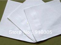 Wholesale 100 cotton male satin handkerchief towboats squareinto handkerchief whitest cm