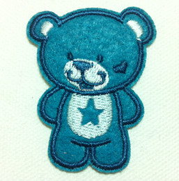Wholesales 10 Pieces Kids Patch Cutie Bear (4cm x 5 cm) Embroidered Applique Iron On Patch (ALL)