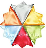 men pocket square - 33 colors Pocket square silk Hankerchief kerchief mocket men s mocketer noserag pocket handkerchief snot rag