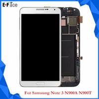 Cheap Wholesale - 5pcs lot Samsung Galaxy Note 3 N9000 N9005 N900T N900A LCD+Touch Screen Digitizer Assembly - Free DHL Shipping Q0022