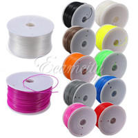 Cheap Free Shipping 1 kg 1.75mm PLA Filament with spool For Makerbot Mendel Printrbot Reprap Prusa 3D Printer Machine Multicolor New