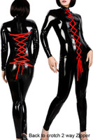Cheap mascot PVC Jumpsuit Latex Women Spandex Bodysuit Stripper Pole Dance Clothes