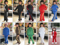 sport clothing wholesale - Hot sales New Kids Sportswear sports suit jacket Long pants boy s Outfits Sets baby clothes Clothing SANYECAO001