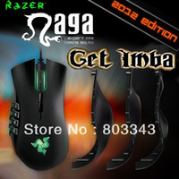 Wholesale Razer Original Naga Edition dpi Razer Precision G Laser Sensor Oriignal Brand new in BOX