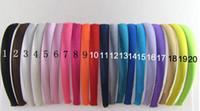 Cheap Hot Sales 20colors Girl 10mm Satin Headbands Children Headbands hair band hair accessories 20pcs lot