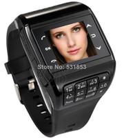 Wholesale Dual SIM GSM Q8 mobile smart watch phone M spy camera bluetooth touch screen keyboard MP3 MP4 unlock