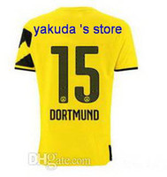 14- 15 Dortmund #15 Hummels Yellow Home Jerseys , Thai Quality...