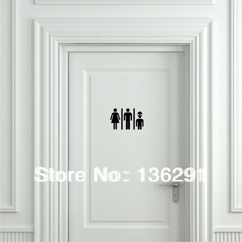 antique. Diy Funny Alien Toilet Sign Door Sticker Door Decal Bathroom Door