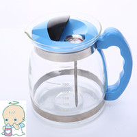 Wholesale Temperature adjustable glass milk bottle warmer for babies with thermometer