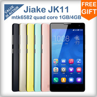 Cheap Origianl Jiake JK11 MTK6582 Quad Core Mobile Phone 5.0inch QHD Screen 1GB+4GB 5MP Camera Android 4.2 3G GPS dual sim Smartphone