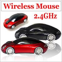 Wholesale Retail box GHz USB Wireless RF Optical Mouse Car Auto mode Blue ray Mice Computer Laptop MAC WIN7 XP Vista OS