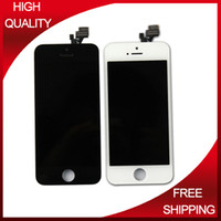 Cheap 20pcs lot Wholesale Mixed Color White or Balck screen replacement for iPhone 5 LCD 100% Tested DHL Shipping