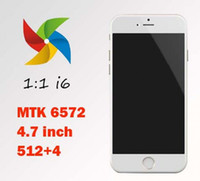 Wholesale New Arrival Perfect Goophone i6 phone inch MTK6572 Dual Core Smart Phone WCDMA G WIFI mb Ram GB Rom G phone
