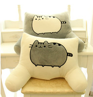 Wholesale Pusheen Cat big pillow cushion biscuits cat plush toy doll Of big face cat tail cat doll waist by office waist pillow