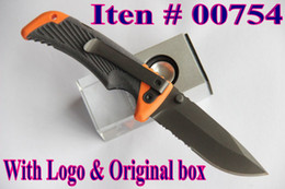 Wholesale 19cm Gebo bear Scout survival knife Cr17Mov blade folding blade knife tactical knife knives with logo original box Pocket guide
