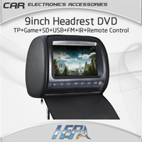 Cheap car dvd HEPA:9inch Car Headrest DVD Player with touch panel digital panel MP5 IR 32bit GAME USB SD FM