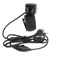 Wholesale USB M LED PC Camera HD Webcam Camera Web Cam with MIC for Computer PC Laptop without Retail Package Free Drop Shipping