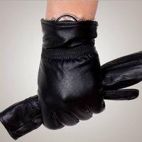 Wholesale Mens fashion winter warm thick leather gloves Genuine sheepskin gloves GR201
