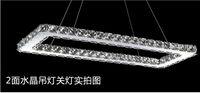 Cheap Modern LED Diamond Crystal Pendant Light Raimond Square Crystal chandelier Top quality 100% guarantee Fast Shipping