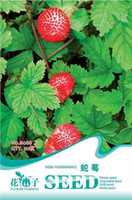 Cheap SEED-(Mix minimum order $5)1 original pack 50 pcs Indian Mock Strawberry Fruit Seeds balcony potted plants free shipping