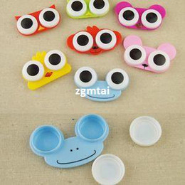 Wholesale -Multi-pattern Cute Lovely Animal Travel Portable Contact Lens Case Box Holder#E801