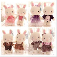 Wholesale OP Genuine Baby bunny plush toy doll Couple rabbit dolls for sale birthday present wedding gift pairs couple