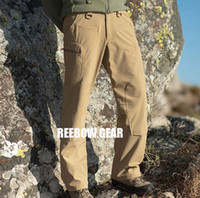 Wholesale TAD Soft Shell Tactical Pants Men s Outdoor Sports Hiking Camping Waterproof Breathable Cargo Pant TELFON YKK Zipper ITW Buckle