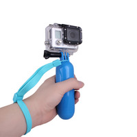 camera hand grip - New Andoer Floating Handheld Hand Grip Handle Mount Wrist Strap Screw Accessory for GoPro Hero Camera Blue Yellow D1183