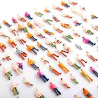 Wholesale Mini Painted Model People HO Scale Mix Painted Model Train Park Street Passenger Little People Figures T176
