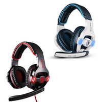 Wholesale TOP Quality Professional SADES Game Headsets SA903 Sound USB Gaming Headphone with Mic Spotlight Remote for PC Laptop V758
