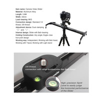 Wholesale 2014 Commlite Aluminum Alloy cm quot Camera Video Track Slider Stabilizer System with Ball Bearing for DSLR Camcorders D1262