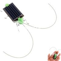 All'ingrosso gioca Grasshopper solare per i bambini i giocattoli solari gioco Mini Grasshopper For Kids Fun Bug robot libera il trasporto Regali di potere energia H1394