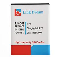 Originale cell Phone Batteria 3,7 V 3100mAh Li-ion per Samsung I9220 Galaxy Note 1 EB615268VU N7000 I717 T879 PA1661
