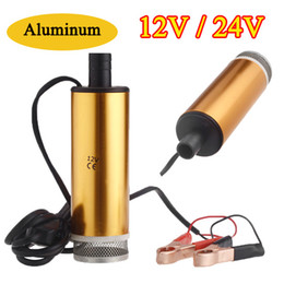 Wholesale Aluminum Golden DC V V Diesel Water Oil Fuel Transfer Refueling Pump Car Camping Fishing Diving Submersible Oil Pumps K1203