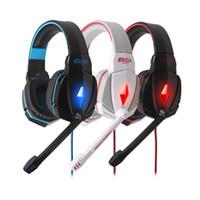 Alta qualità OGNI G4000 Stereo Gaming Headset cancellazione del rumore cuffie con controllo di volume del Mic fascia per i giochi PC PS3 V765