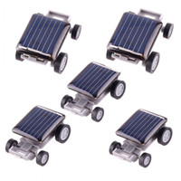 Wholesale 5pcs Black Lovely Solar Toy Car Educational Gadget Children Gift Mini Solar Toy Car For Kids Power Amazing H1759